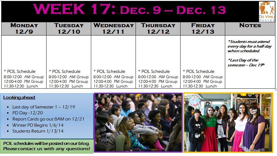 week 17 families
