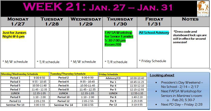 week 21 families