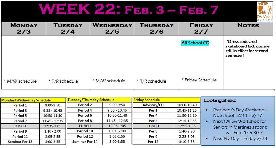 week 22 families