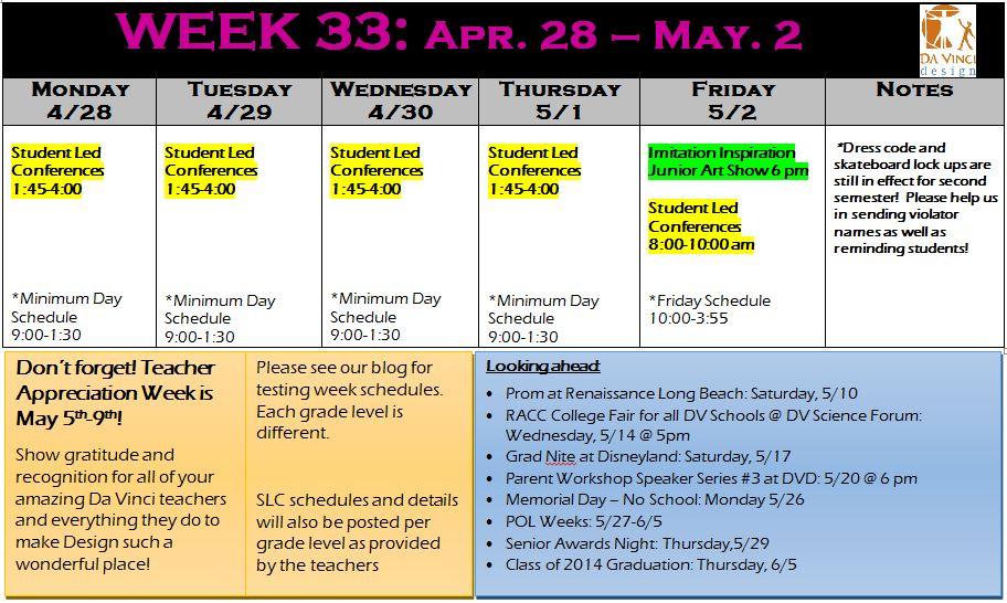 week 33 families