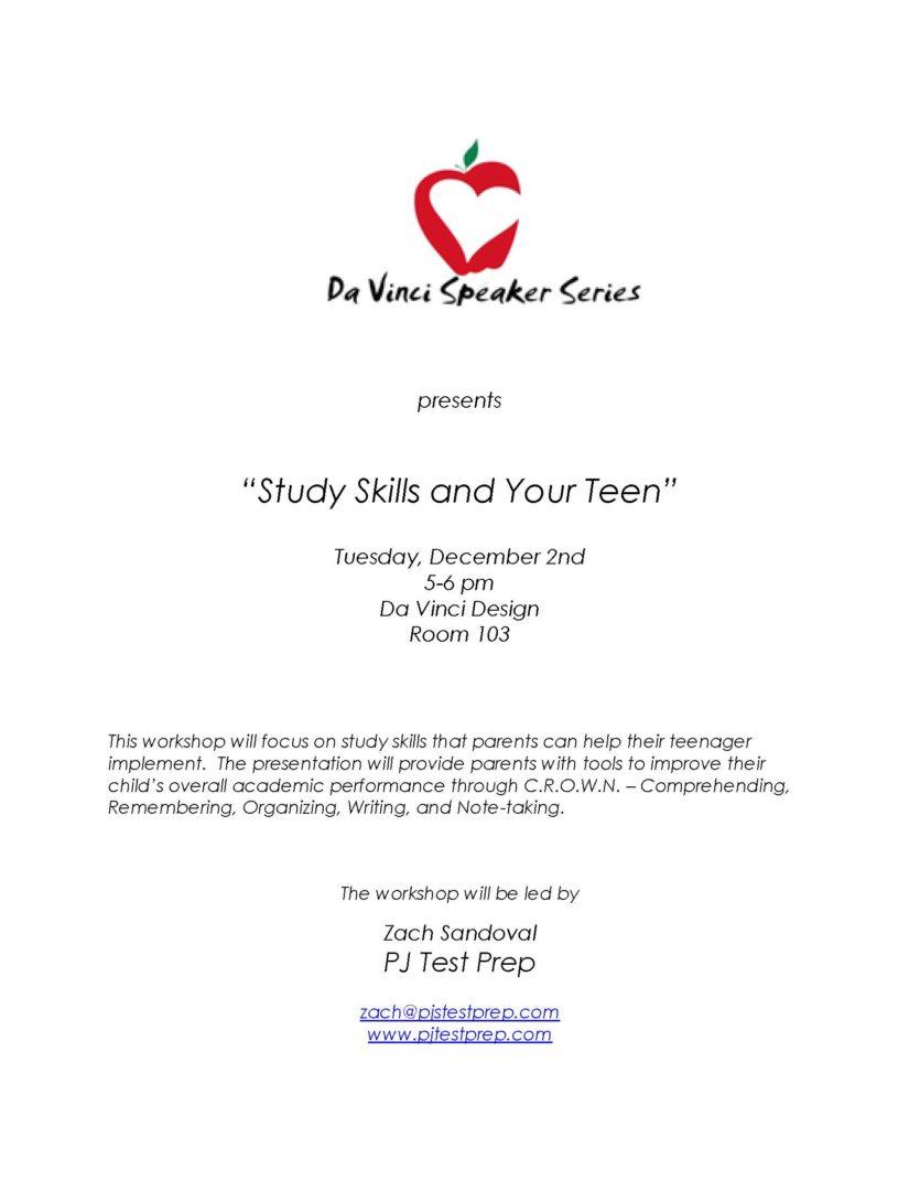 Flyer - Study Skills Workshop