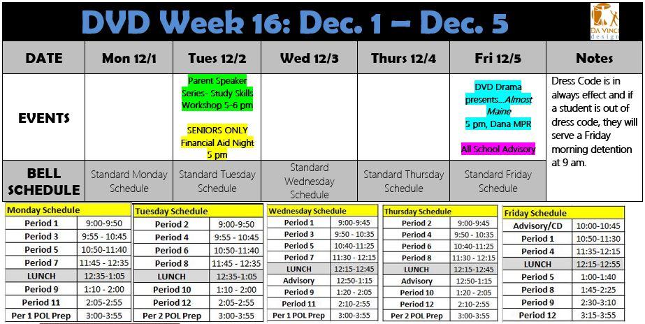 Week 16 families