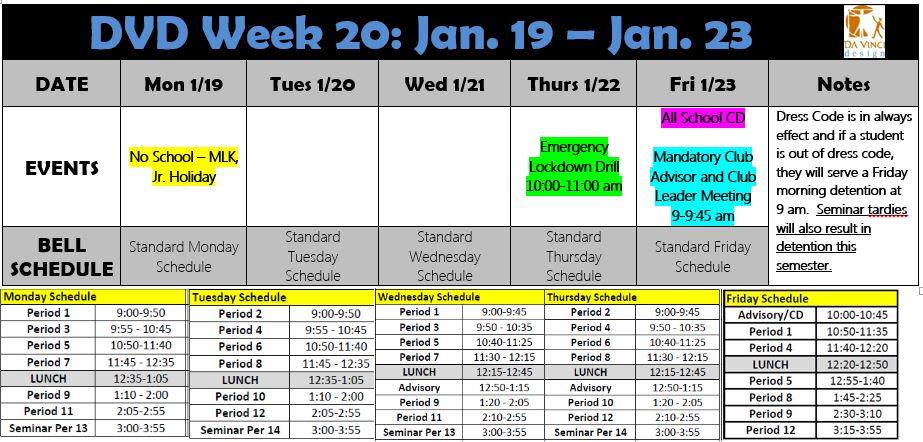 Week 20 2014-15 families