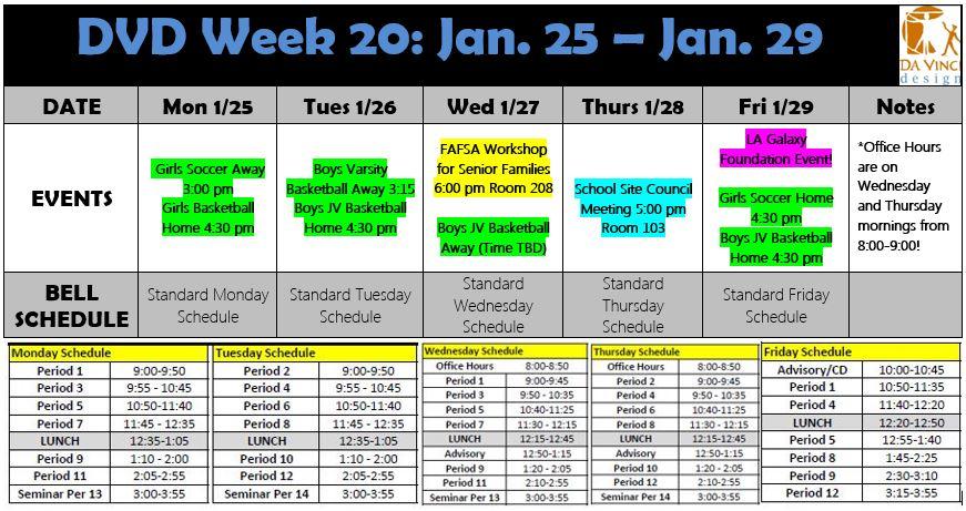 Week 20 2015-16 families
