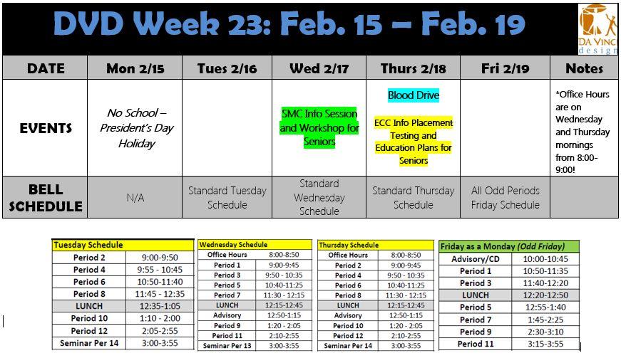 Week 23 families 2015-16