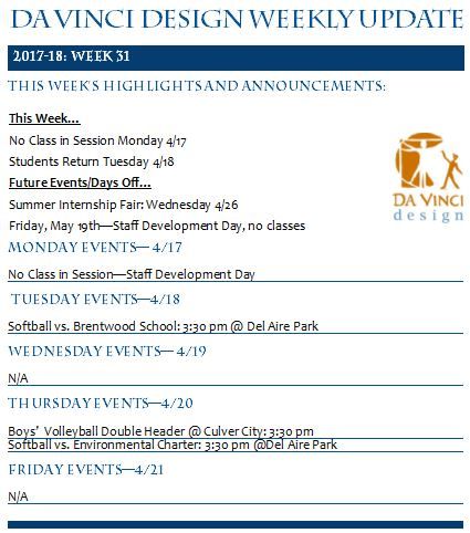 DVD 16-17 Week 31 Update - Families