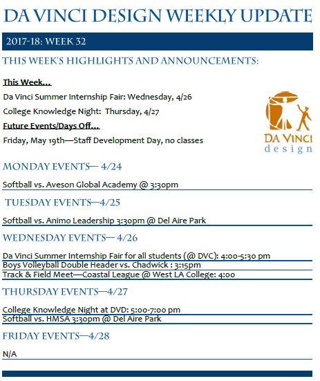 DVD 16-17 Week 32 Update - Families