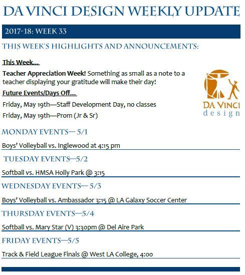 DVD 16-17 Week 33 Update - Families