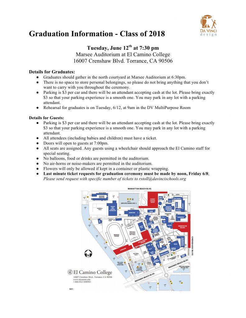 DVD Class of 2018 Graduation Information