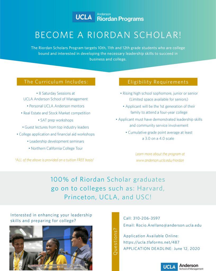 2020 RIORDAN-Scholars-Flyer1 4