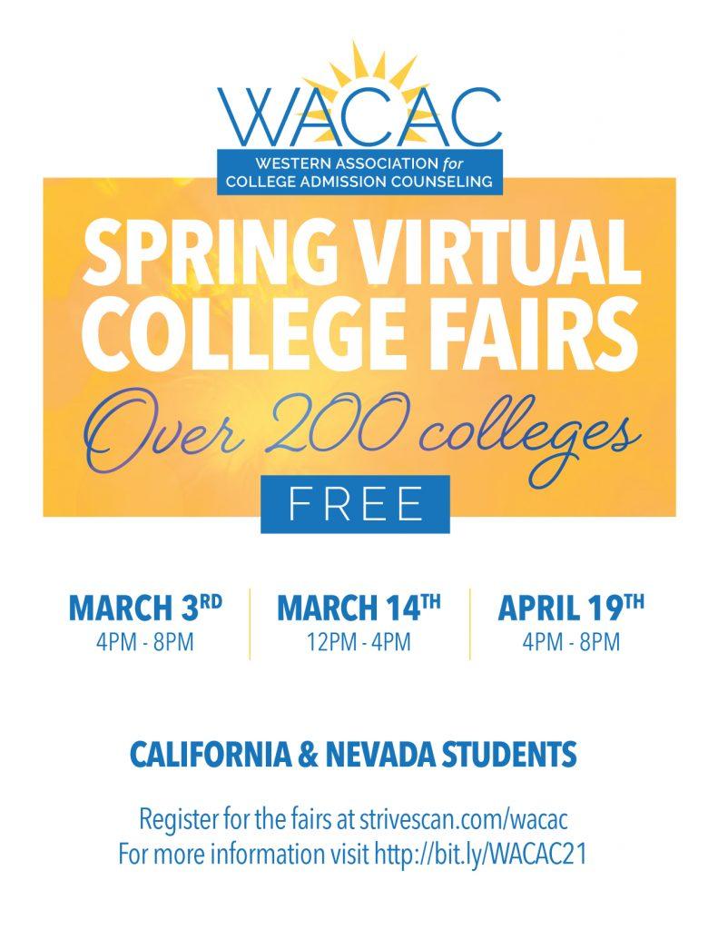 WACAC Spring College Fairs