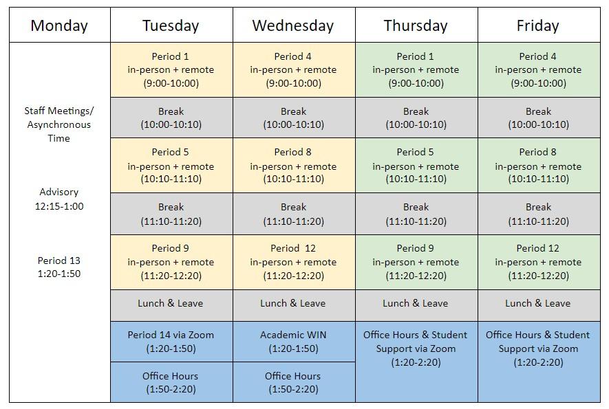 DVD Hybrid Schedule